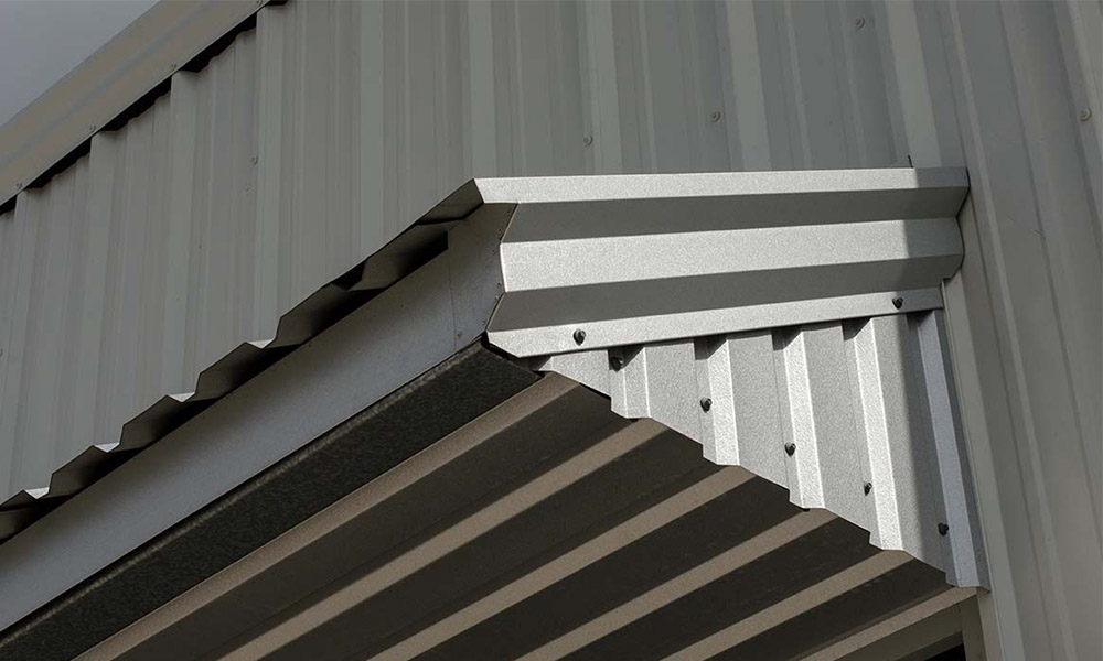 metal roofing and flashing application