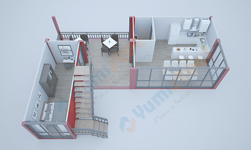 Floor plan of container house